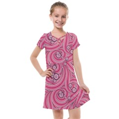 Pattern Doodle Design Drawing Kids  Cross Web Dress by Pakrebo