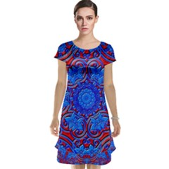 Background Fractals Surreal Design Art Cap Sleeve Nightdress