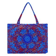 Background Fractals Surreal Design Art Medium Tote Bag by Pakrebo