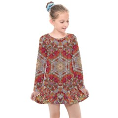 Pattern Background Patterns Kids  Long Sleeve Dress