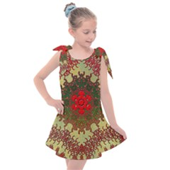 Tile Background Image Color Pattern Kids  Tie Up Tunic Dress