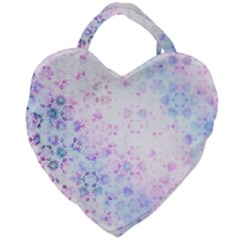 Digital Art Artwork Abstract Pink Purple Giant Heart Shaped Tote by Jojostore
