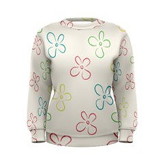 Flower Background Nature Floral Women s Sweatshirt by Mariart