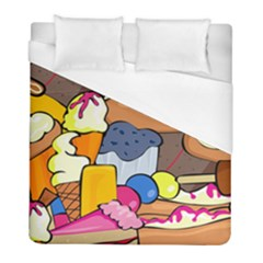 Sweet Dessert Food Muffin Cake Duvet Cover (full/ Double Size) by Alisyart