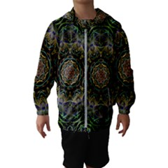 Fractal  Background Graphic Hooded Windbreaker (kids)