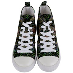 Fractal  Background Graphic Women s Mid Top Canvas Sneakers