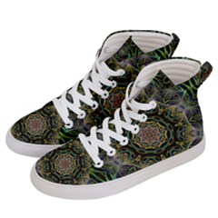 Fractal  Background Graphic Women s Hi Top Skate Sneakers by Pakrebo