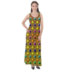 Background  Kaleidoscope Sleeveless Velour Maxi Dress