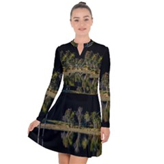 Soi Ball Symmetry Scenery Reflect Long Sleeve Panel Dress