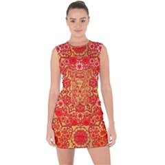 Background Design Background Image Lace Up Front Bodycon Dress