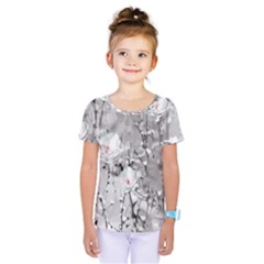 Blossoming Through The Snow Kids  One Piece Tee