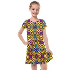Tile Background Image Graphic Abstract Kids  Cross Web Dress by Pakrebo