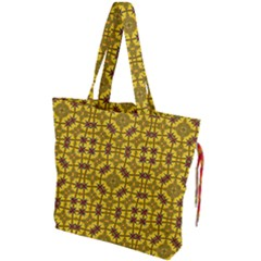 Tile Background Image Graphic Yellow Drawstring Tote Bag