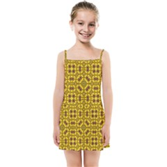 Tile Background Image Graphic Yellow Kids  Summer Sun Dress