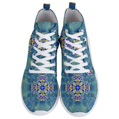 Tile Background Image Graphic Men s Lightweight High Top Sneakers