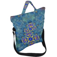 Tile Background Image Graphic Fold Over Handle Tote Bag