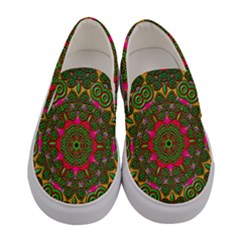 Background Image Pattern Women s Canvas Slip Ons