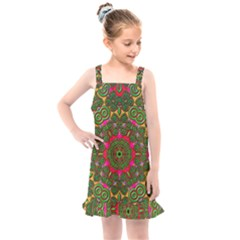 Background Image Pattern Kids  Overall Dress