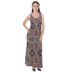 Background Image Color Colorful Sleeveless Velour Maxi Dress