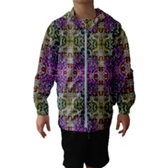 Background Image Pattern Hooded Windbreaker (kids)