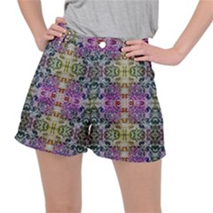 Background Image Pattern Stretch Ripstop Shorts