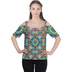 Farbenpracht Kaleidoscope Art Cutout Shoulder Tee