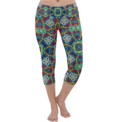 Farbenpracht Kaleidoscope Art Capri Yoga Leggings