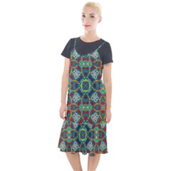 Farbenpracht Kaleidoscope Art Camis Fishtail Dress by Pakrebo