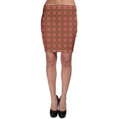 Tile Background Image Pattern Floral Bodycon Skirt