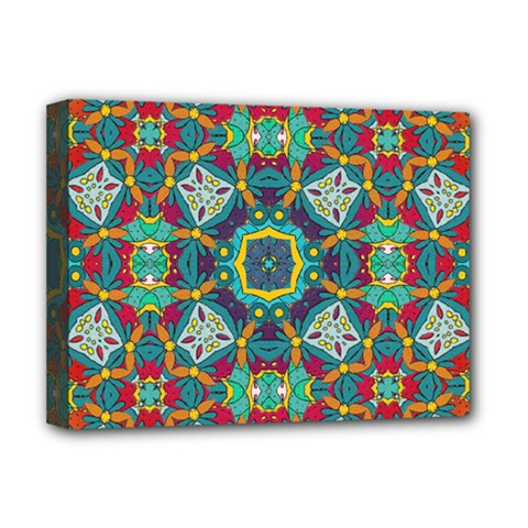 Farbenpracht Kaleidoscope Art Deluxe Canvas 16  X 12  (stretched)  by Pakrebo