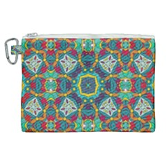 Farbenpracht Kaleidoscope Art Canvas Cosmetic Bag (xl)