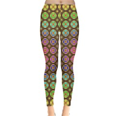 Tile Background Image Pattern Art Leggings