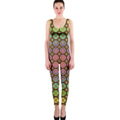 Tile Background Image Pattern Art One Piece Catsuit
