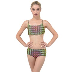 Tile Background Image Pattern Art Layered Top Bikini Set by Pakrebo