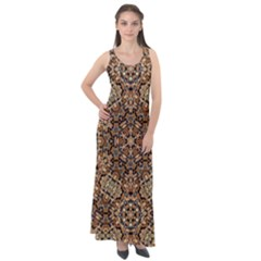 Pattern  Background Sleeveless Velour Maxi Dress