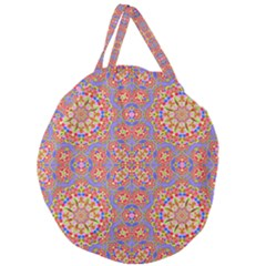 Background Image Structure Art Giant Round Zipper Tote