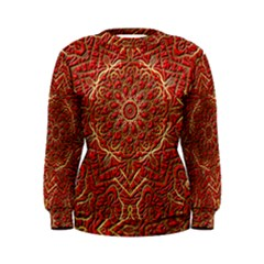 Tile Background Image Pattern 3d Red Women s Sweatshirt