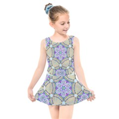 Ornament Kaleidoscope Kids  Skater Dress Swimsuit by Pakrebo