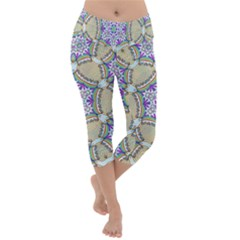 Ornament Kaleidoscope Lightweight Velour Capri Yoga Leggings