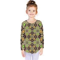 Background Image Decorative Kids  Long Sleeve Tee