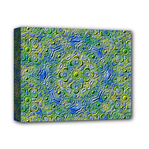 Farbenpracht Kaleidoscope Deluxe Canvas 14  X 11  (stretched) by Pakrebo