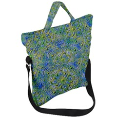 Farbenpracht Kaleidoscope Fold Over Handle Tote Bag