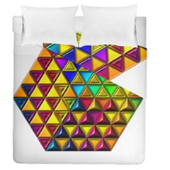 Cube Diced Tile Background Image Duvet Cover Double Side (queen Size)