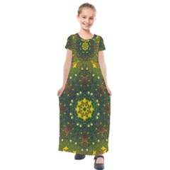 Background Image Wallpaper Kids  Short Sleeve Maxi Dress by Pakrebo