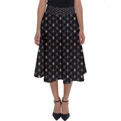 Background Pattern Structure Perfect Length Midi Skirt