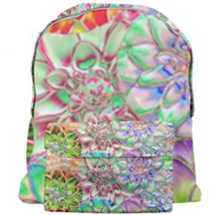 Dahlia Flower Colorful Art Collage Giant Full Print Backpack