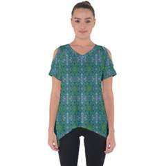 Farbenpracht Kaleidoscope Patterns Cut Out Side Drop Tee