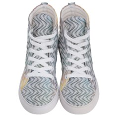 Abstract Geometric Line Art Women s Hi Top Skate Sneakers