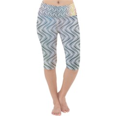 Abstract Geometric Line Art Lightweight Velour Cropped Yoga Leggings