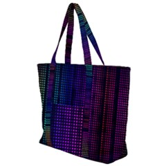 Abstract Background Plaid Zip Up Canvas Bag